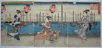 Ichiryusai-HIROSHIGE-1797-to-1858-beauties9